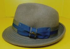 Tommy Bahama Shade Maker Hat Trilby Men's Small Medium Brown Blue 100% Wool