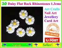 20 white daisy flower resin flat back DIY jewellery decoration Arts Crafts