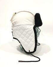 UGG QUILTED NYLON TRAPPER WITH SHEEPSKIN FUR - WHITE -WOMEN'S ONE SIZE -NWT