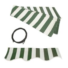 ALEKO Fabric Replacement For 10x8 Ft Retractable Awning Green and White Color