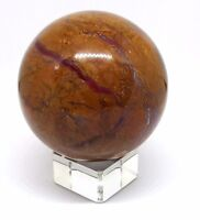 Fossilised Petrified Wood Crystal Ball Divination Scrying Madagascar 63mm