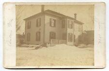 Jan. 1893 Cab Card Photo of House in Calais, Maine