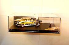 1:43 QUARTZO Formel 1 F1 Modellauto 1982 RENAULT RE30B Arnoux gelb/weiß 1:43 BOX