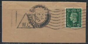 Great Britain #235(10) 1937 0.5p dark green GEORGE VI ABERDEEN JUL 30 1937