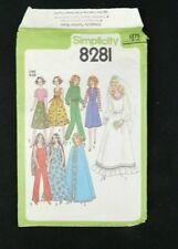 Vtg 1977 Simplicity Barbie Doll Clothing Pattern 8281 Wedding Dress Warm Up Suit