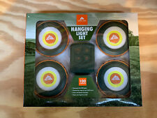 Ozark Trail Camping Hanging 4 Light Set with Remote and 20' Range 100 Lumen New