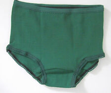 Gym Knickers Age 6-8yrs Stretchy Knickers Panties Briefs Nylon Bottle Green