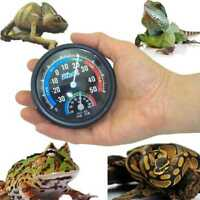 Reptile Round Analog Temperature and Humidity Meter Thermometer Wet·Hygrometer