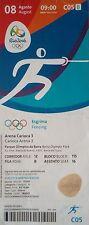 TICKET 8.8.2016 Olympia Rio Fechten Fencing # C05