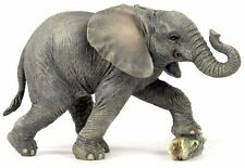 "8"" Baby Elephant Wildlife Statue Animal Decor Figure Sculpture Wild Safari"