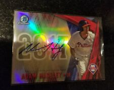 2017 Bowman Draft Class Chrome Red Refractor AUTO Adam Haseley /5 Phillies