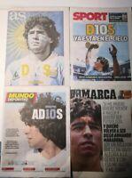 """AS+MARCA+SPORT+MD- """"MUERTE DE MARADONA"""" - PERIÓDICO ESPAÑA - GIORNALE 26/11/20"""