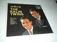 THE KALIN TWINS - When vinyl record LP (Stereo Long Play version) VERY RARE