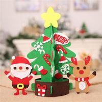 Mini Table Top Snow Christmas Tree Decoration LED Decor Home Xmas Gift