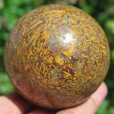 10.9OZ Natural Elephant Skin Jasper Fossil Crystal Sphere Ball