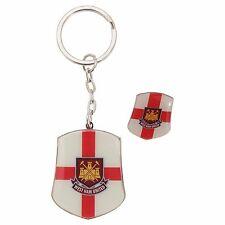 Orig.West Ham United FC Schlüsselanhänger mit Badge/Pin imSet NEU OVP WHUFC 2012
