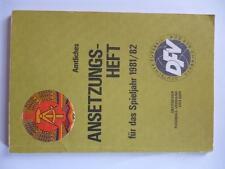 Bu14 ANSETZUNGSHEFT FUSSBALLVERBAND der DDR Oberliga 1981/82 DFV Sport Fussball