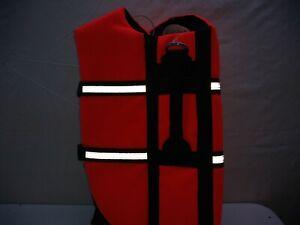 Large Dog Pet Life Reflective Vest Jacket For Swimming Boat Coat Outwear Orange