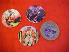 Pogs Z Comic Cap Set of Four 3 Are Cardboard One Is Metal 1994 Good Condition