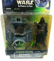 Tie Fighter with Darth Vader Kenner Star Wars Power of the force Gunner Station