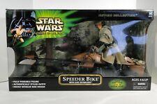 """2001 Star Wars Hasbro POTJ 12"""" 1/6 Scale Luke Skywalker with Speeder Bike"""
