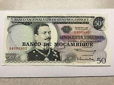 1970 Mozambique  50 Escudos Unc+ #5371