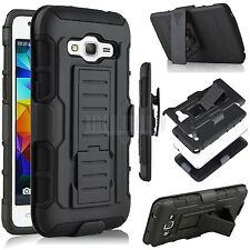 For Samsung Galaxy Grand Prime G530 Armor Hybrid Rubber Hard Holster Case Cover