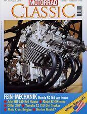 Motorrad Classic 4/94 1994 Ariel NH 350 Gillet 3 HP Honda RC 162 Imme Norton Mod