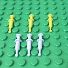 Lego X6 Bright Light Blue / Lime Green Syringe For City Mini Figures Utensil Lot