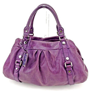 Marc Jacobs Boston bag Purple Silver Woman Authentic Used Y7063