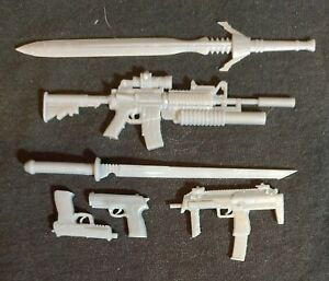 Deathstroke - Weapons Kit - 1/6, 1/10, 1/12, 1/18 Scales