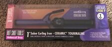"NEW Hot Shot Tools Helen of Troy 1"" Salon Ceramic Tourmaline Curling Iron"