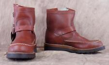 CHIPPEWA~NWT~Vintage~Vibram Soles~Sz 7EE~Steel Toe~Burgundy Red~Motorcycle Boots