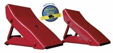 2 Pc Heavy Duty Wheel Chocks Stop Tire RV Camper Trailer Car Block Metal Stopper