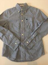 Boys Abercrombie Shirt. Size Medium (M). Blue And White Check