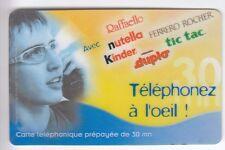 FRANCE  TELECARTE / PHONECARD  PREPAYEE .. 30MN STARTEC PRIVE FERRERO KINDER +N°