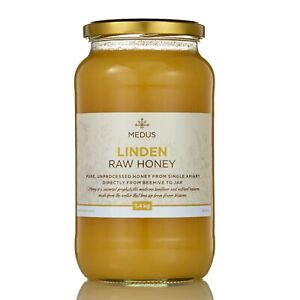 Pure LINDEN Lime Honey 400g-1.8kg RAW NATURAL sweetener Unpasteurized Unheated