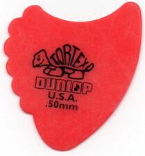 DUNLOP GUITAR PICKS ~TORTEX FINS- (6) ALL RED .50