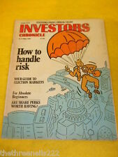 INVESTORS CHRONICLE - HOW TO HANDLE RISK - MAY 8 1987