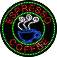ESPRESSO / COFFEE HIGH IMPACT, EYE-CATCHING LED SIGN