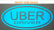 **REFLECTIVE** UBER DRIVER OVAL SIGN sticker vinyl car sign taxi/drivers/LYFT