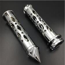 Chrome 7/8''  22mm Handlebar HandGrip Grips Motorcycle For Harley Honda Kawasaki