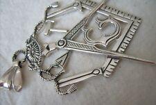 MASONIC FREEMASONRY Pendant  H A N D M A D E -925 Silver.