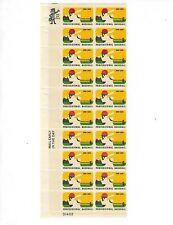 US #1381 6¢ BASEBALL plate block of 20 MNH OG