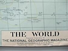 """National Geographic Map of """"THE WORLD"""" 1932 Rare ..ref  G"""