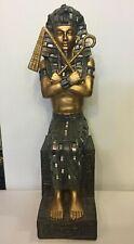 Sitting Egyptian Ornament Figurine by Leonardo Egypt Pharaoh Statue with Axes