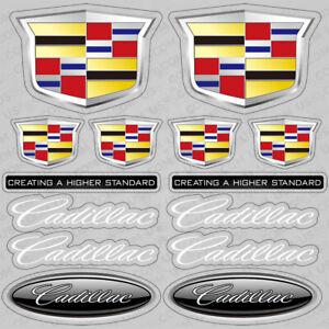 For New Cadillac Performance Sport Car Sticker 3D Decal Logo Stripe Decoration