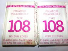 (2) Packs Vintage Polaroid Polacolor 2 Type 108 Film Sealed Expired 1/1977