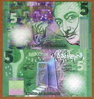 Kamberra, 5 Numismas, 2016, UNC > Green Salvador Dali, New Color