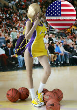 """1/6 NBA Lakers Cheerleader Suit Set B For 12"""" PHICEN Hot Toys Female Figure USA"""